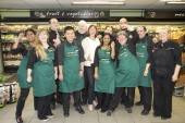 The Scotmid Pilrig team with Arlene from 97.3 Forth One.
