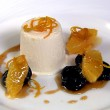 Iced Islay Whisky Cream, Salad of Oranges and Prunes and a Tea Syrup