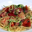 Pasta Noodles with Lobster, Spaghetti Courgette, Tomato and Basil