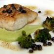 Roast Hake, Romanesco Cauliflower, Brown Butter and Capers