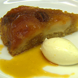 Caramelised Upside Down Apple Cake with Lemon Mascarpone Cream