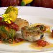 Inishowen Fish Burger, Mulroy Bay Scallops and Tomato Dressing