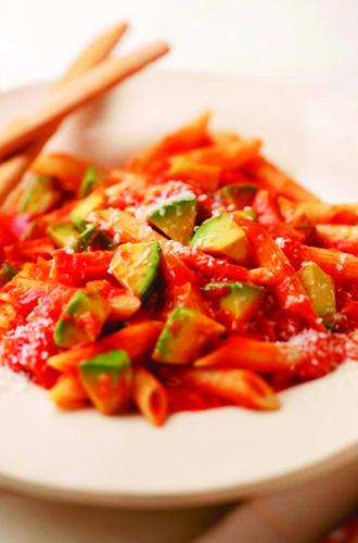 California-Avocado-Pancetta-Tomato-and-Hot-Pepper-Pasta